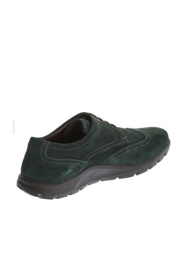 Comienzo %100 Suni Deri Bağcıklı Ayakkabı Yeşil